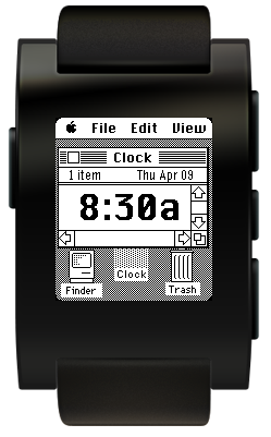 Pebble with Mac OS Watchface