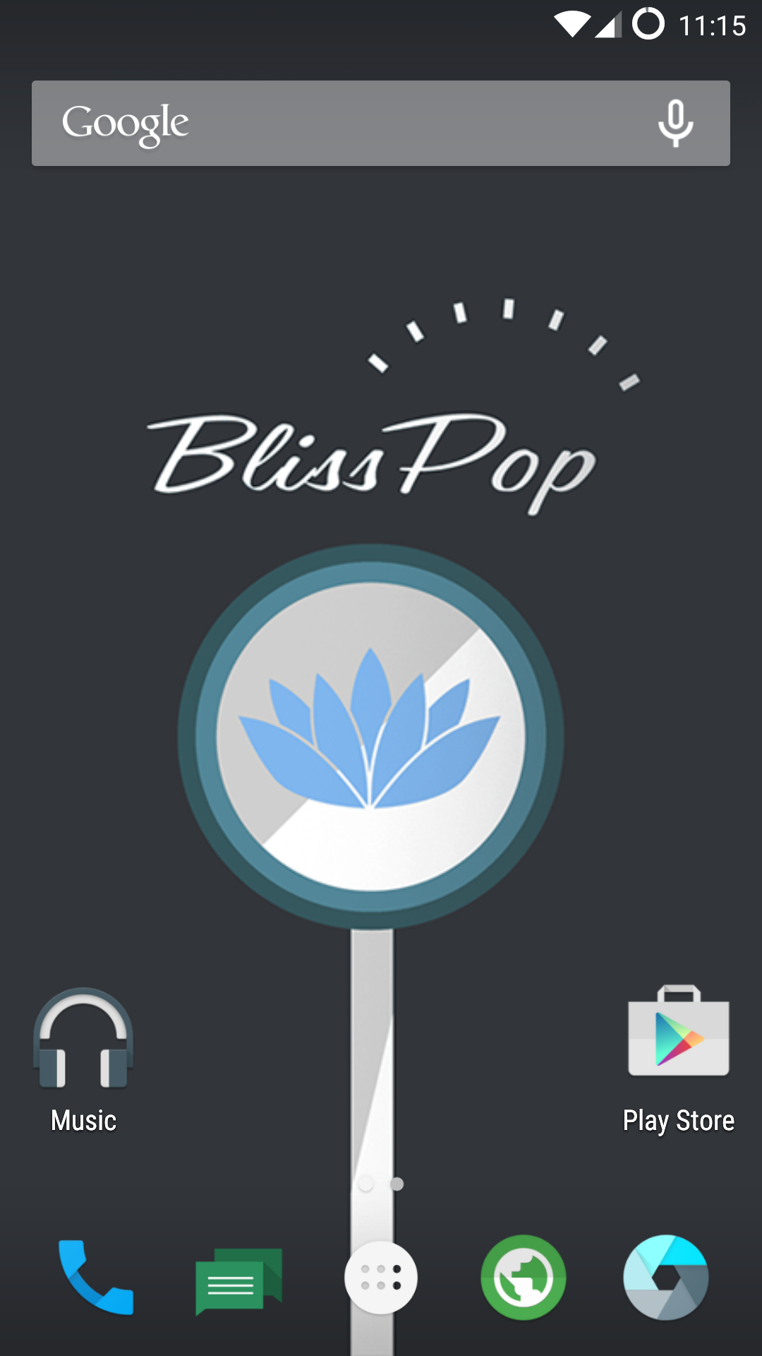 BlissPop Home Screen