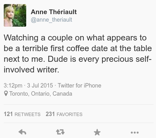 A bad coffee date in Toronto