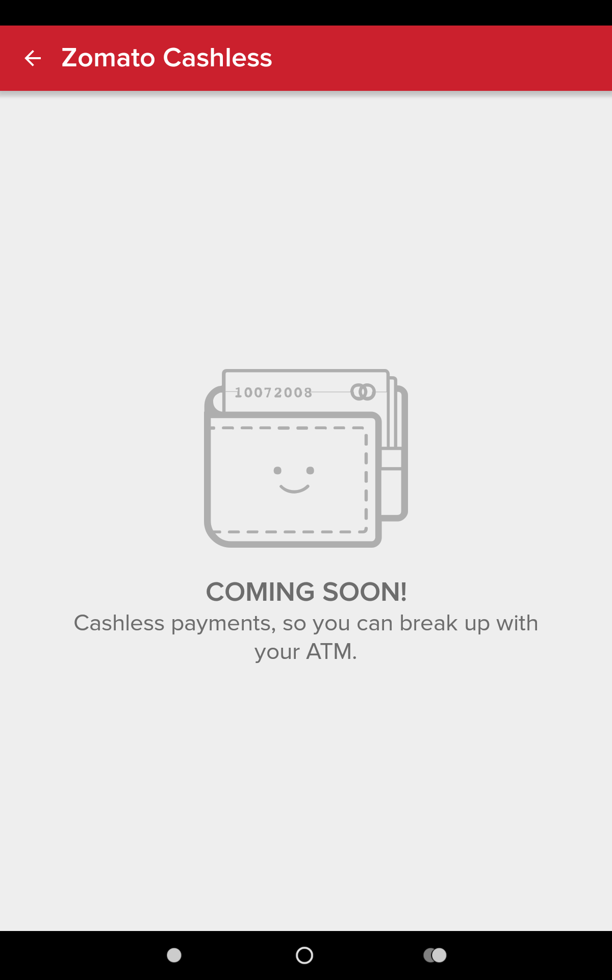 Zomato Cashless Payments - Coming Soon?