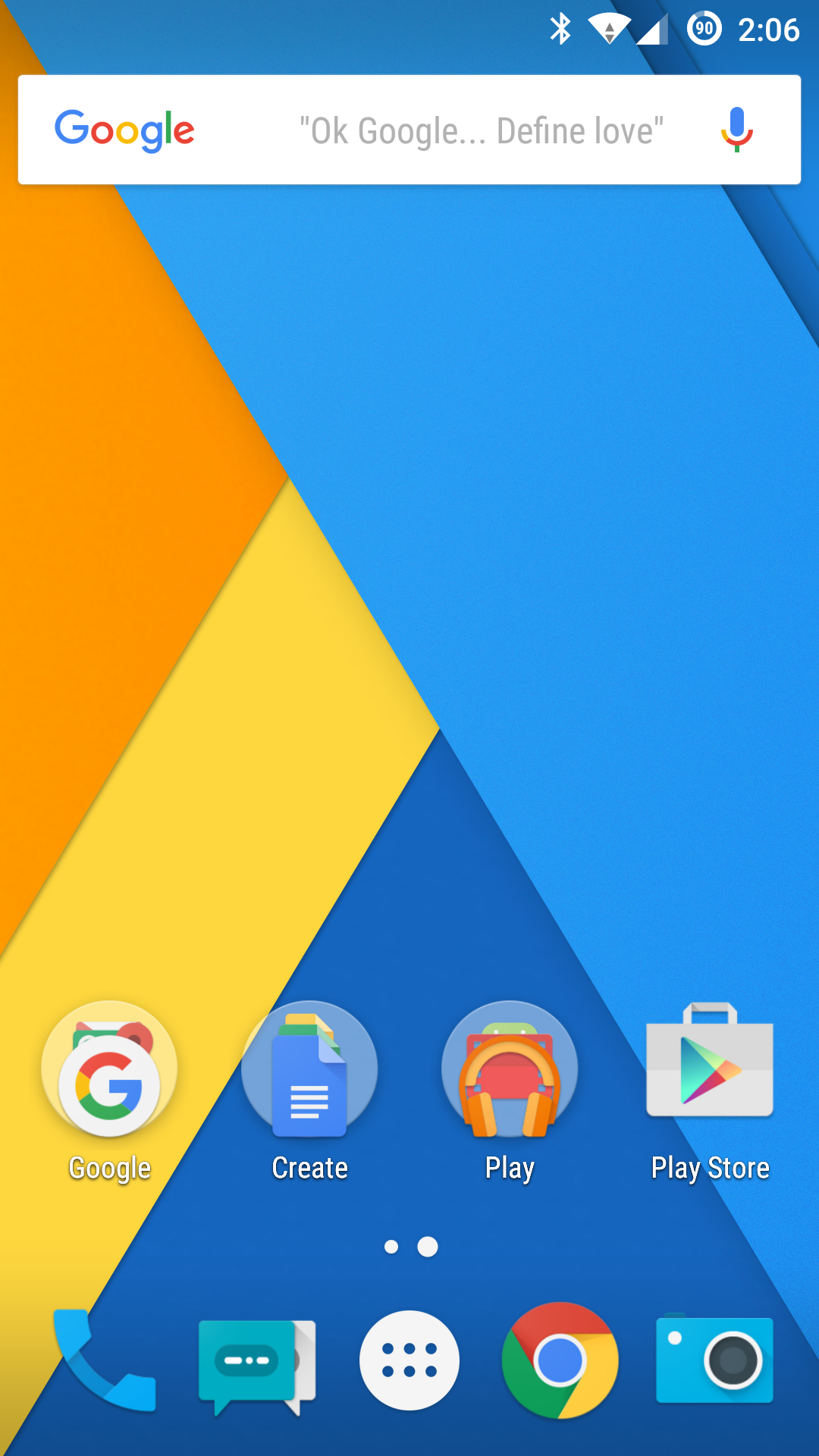 Google Launcher Search Bar