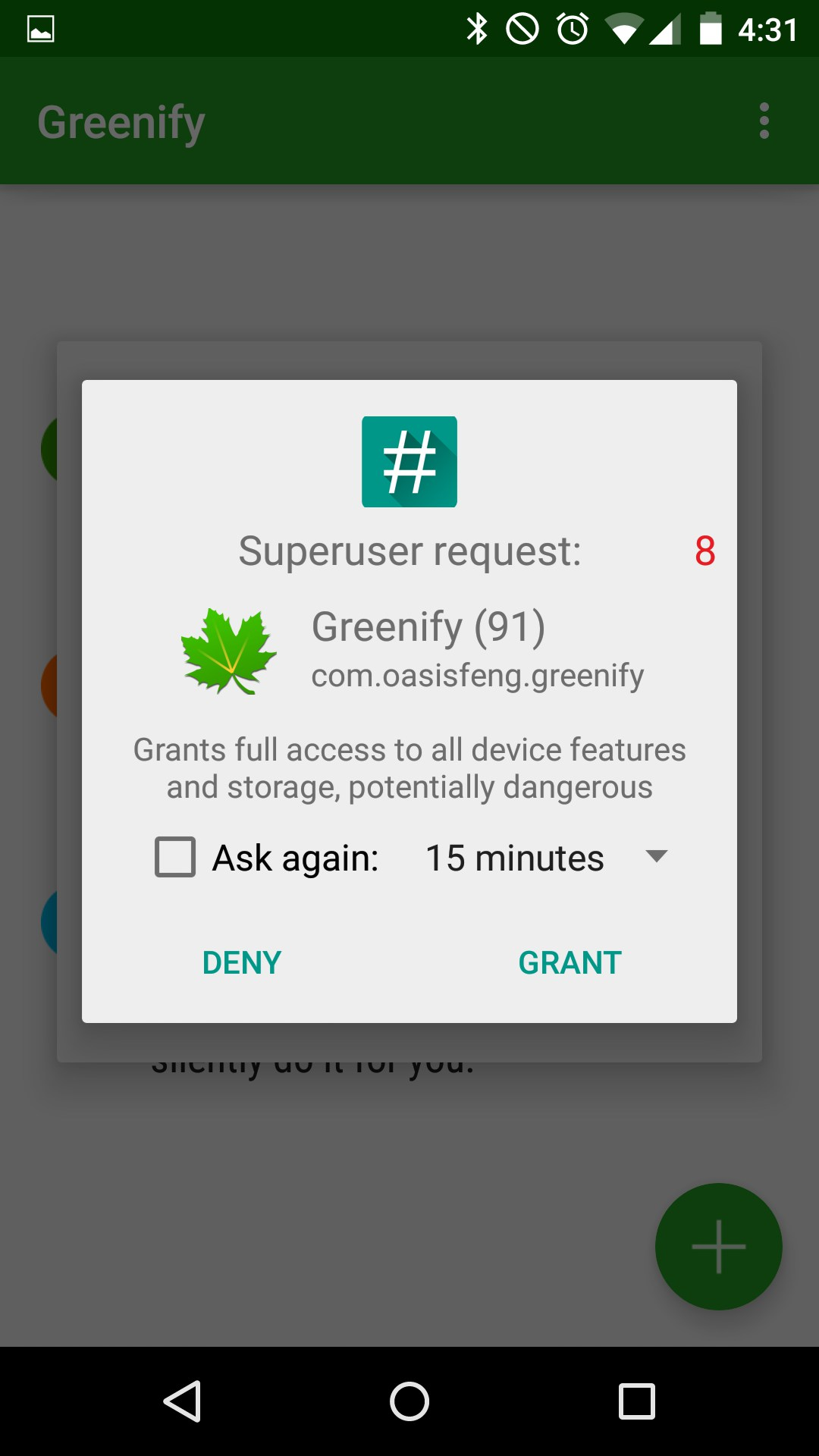 SuperSU Root Access Request