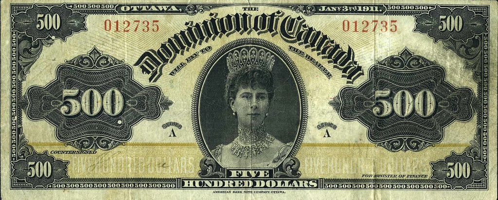 Olde Timey $500 Bank Note