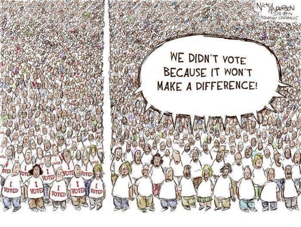 Voters who didn't vote...
