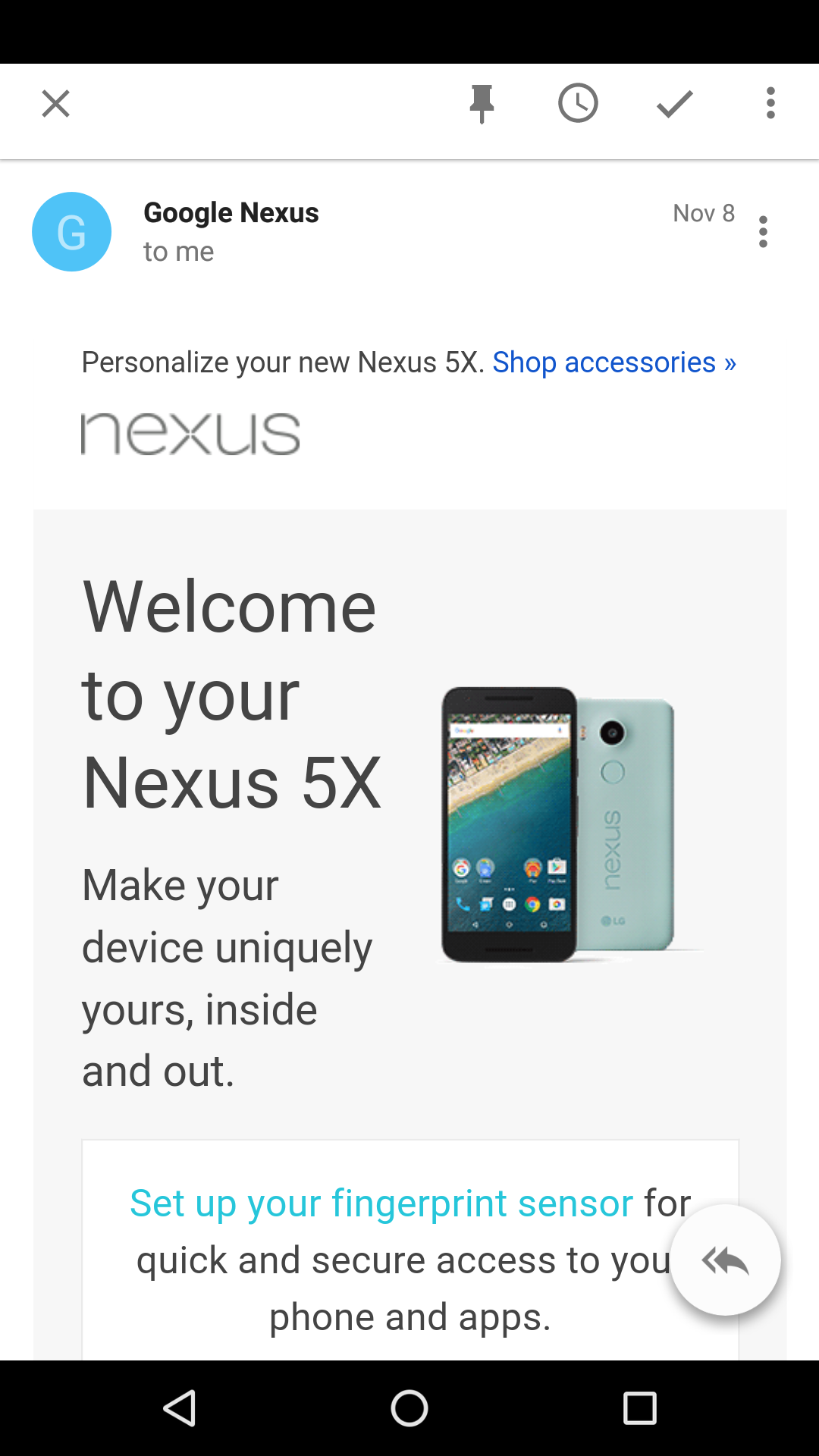 Welcome to your Nexus 5X