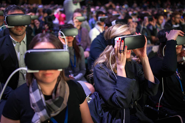 VR headsets at Samsung Unpacked