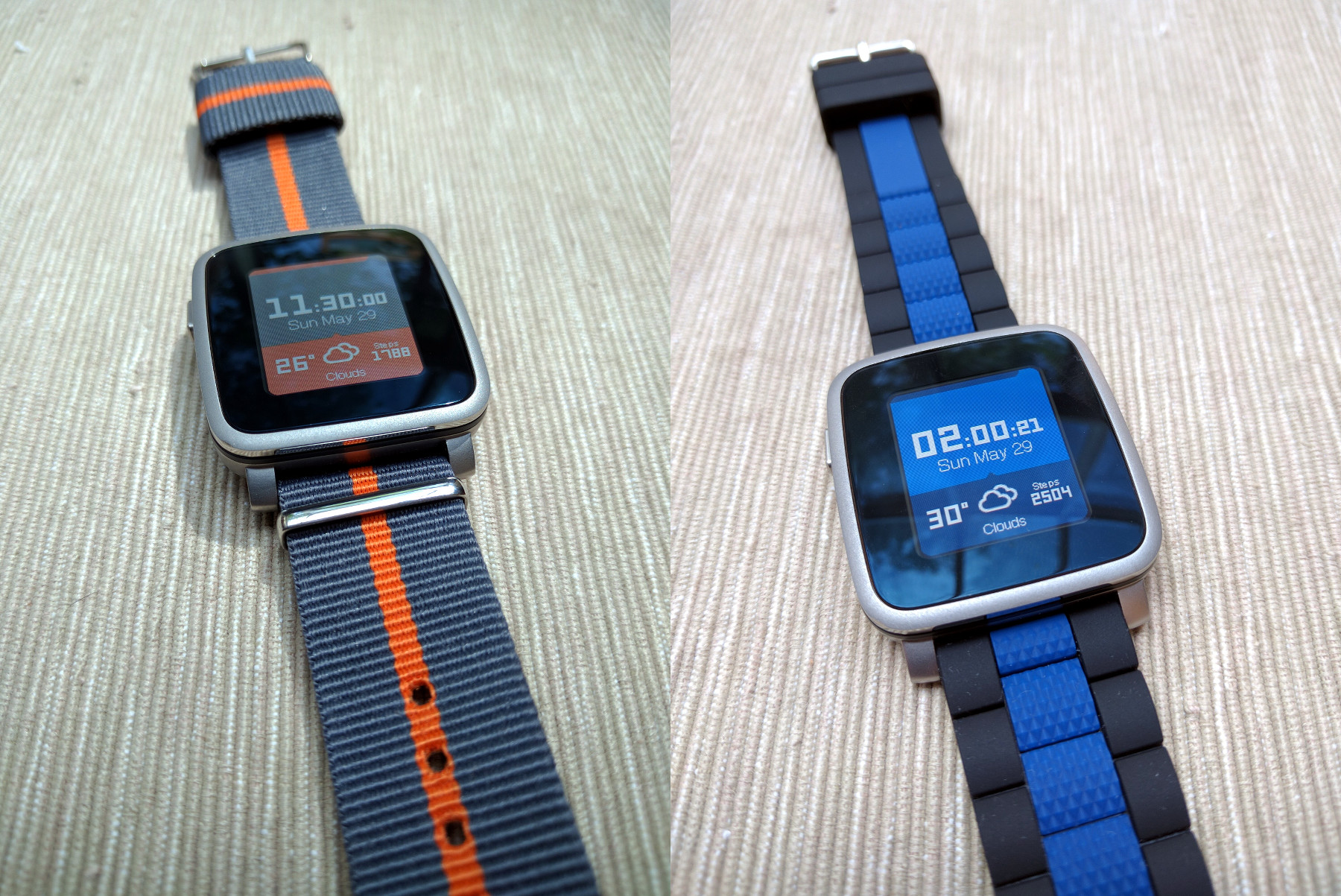Customized Pebble Time Steel
